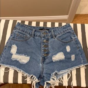 Forever 21 size small cheeky denim short